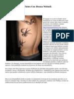 Tatuajes Y Tintes Con Henna Mehndi.