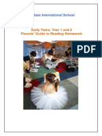 parents-guide-to-reading-homework for early years and year 1-2