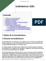 Sistemas Termodinámicos (GIE)