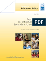 Fraser Institute Report Card on British Columbia's Secondary Schools 2014
