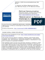 Mazzoleni Mediatization of Politics