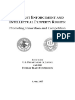 DOJ/FTC Intellectual Property Antitrust Report 2007