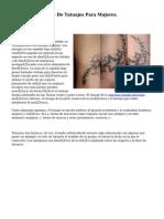 Diseños De Tatuajes Para Mujeres.