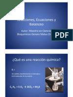 09 Reacciones, Ecuaciones y Balanceo