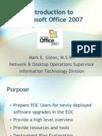 Introduction to Microsoft Office 2007 Training Presentation 092309