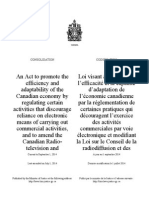 Canadian Spam Law Regs and Compliance Bulletins