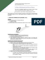 Conselhos Úteis Para a Realização Das Provas Físicas