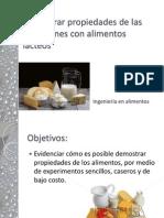 Propiedades Emulsionantes en Alimentos Lácteos