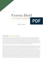 """Catálogo de la exposición """"El cuerpo vulnerable"""" de Victoria Diehl."""