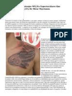 60 De Los Tatuajes Más Espectaculares Que Tendrás Ocasión De Mirar Marcianos.