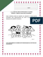 Avaliação de Língua Portuguesa. 1 BIMESTRE