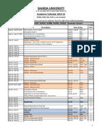 Academic Calendar for the Session 2014-15 (Semester System) Except SMSR, SDS, SNSR, SAHS (2)