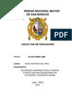 Monografía Cultura Lima