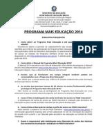 Perguntas Frequentes Mais Educacao 2014 II