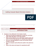 Auditing Computer Based Information Systems