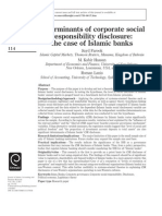 Determinants of Corporate Social Responsibility Disclosure the Case of Islamic Banks