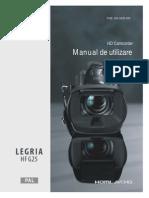 LEGRIA HF G25 Instruction Manual RO