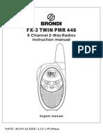 Brondi Fx-3 Twin Pmr 446 User Guide