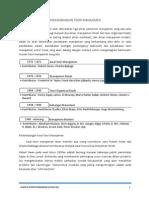 Sejarah Perkembangan Teori Manajemen