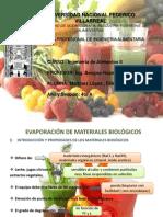 Evaporación de Materiales Biológicos