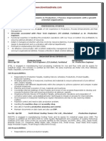 Downloadmela.com Senior Production Engineer Sample Resume