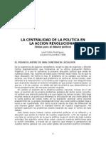 COTÁN, José - La Centralidad de La Política en La Acción Revolucionaria