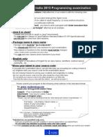 WAP2013India_ProgrammingExamination