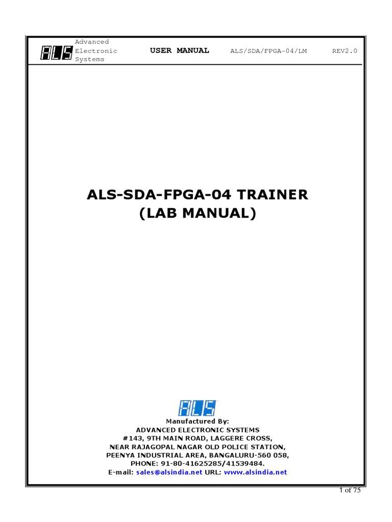 Als-Sda-Fpga-04 Trainer (Lab Manual)