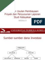 MODUL 9-PENILAIAN USULAN PEMBIAYAAN PROYEK DAN PENYUSUNAN LAPORAN STUDI KELAYAKAN.pptx
