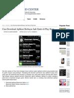 Cara Download Aplikasi Berbayar Jadi Gratis di Play Store.pdf