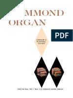 Hammond Organ Guide