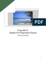Sample Post Negotiation Report 2