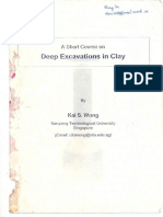 Deep Excavation in Clay
