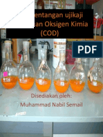 Pembentangan Ujikaji Keperluan Oksigen Kimia (COD)