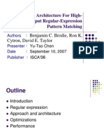 [Y2006]a Scalable Architecture for High-Throughput Regular-Expression Pattern Matching