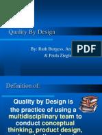 Quality by Design(Paula Ruth Ann)