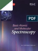 Basic Atomic and Molecular Spectroscopy
