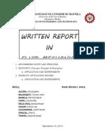 Written Report (Fluid Mechanics)