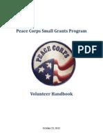 Peace Corps Small Grants Program Volunteer Handbook 2012