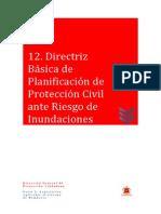 12 Directriz Básica de Planificación de Protección Civil Ante Riesgo de Inundaciones