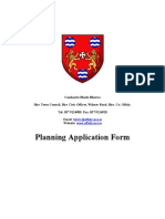 Planning Application Form