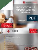 Adolescent Girls Anaemia Control Program