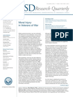 Moral Injury in Veterans of War