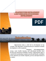 INFRASTRUCTURE DEVELOPMENT  A KEY INDICATOR OF ECONOMIC DEVELOPMENT