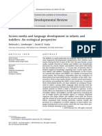 Linebarger - Screen Media and Language Development in Infants and Toddlers