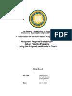 027 Berkeley Analysis of Regional Scalability of School Feeding Programs Using Locally Produced Foods in Ghana 2005