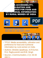 Media Accessibility, Utilisation and Preference for Food