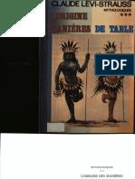 Claude Levi-Strauss-L'Origine Des Manieres de Table(1968)
