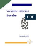 Come Organizzare i Contenuti Per Un Sito Web Efficace 090928110404 Phpapp01