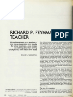Goodstein - Richard P. Feynman, Teacher